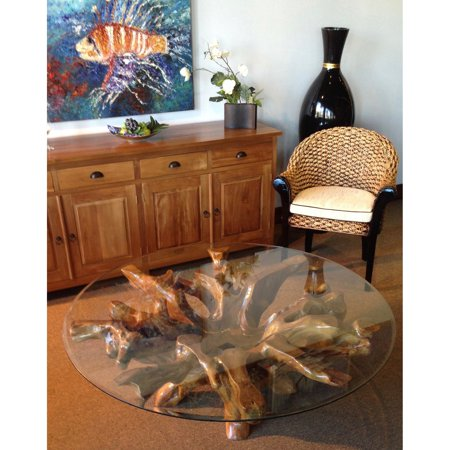 Awesome Chic Teak Teak Root Coffee Table With Glass Top Download Free Architecture Designs Scobabritishbridgeorg