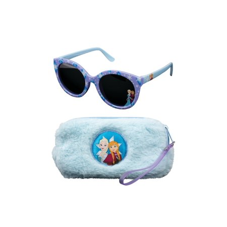 Frozen Fuzzy Case and Kid's Sunglasses Set - Sunglasses For Kids