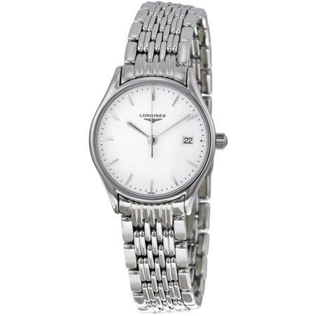 Longines Women's 25mm Steel Bracelet & Case Sapphire Crystal Quartz White Dial Analog Watch - Longines Quartz