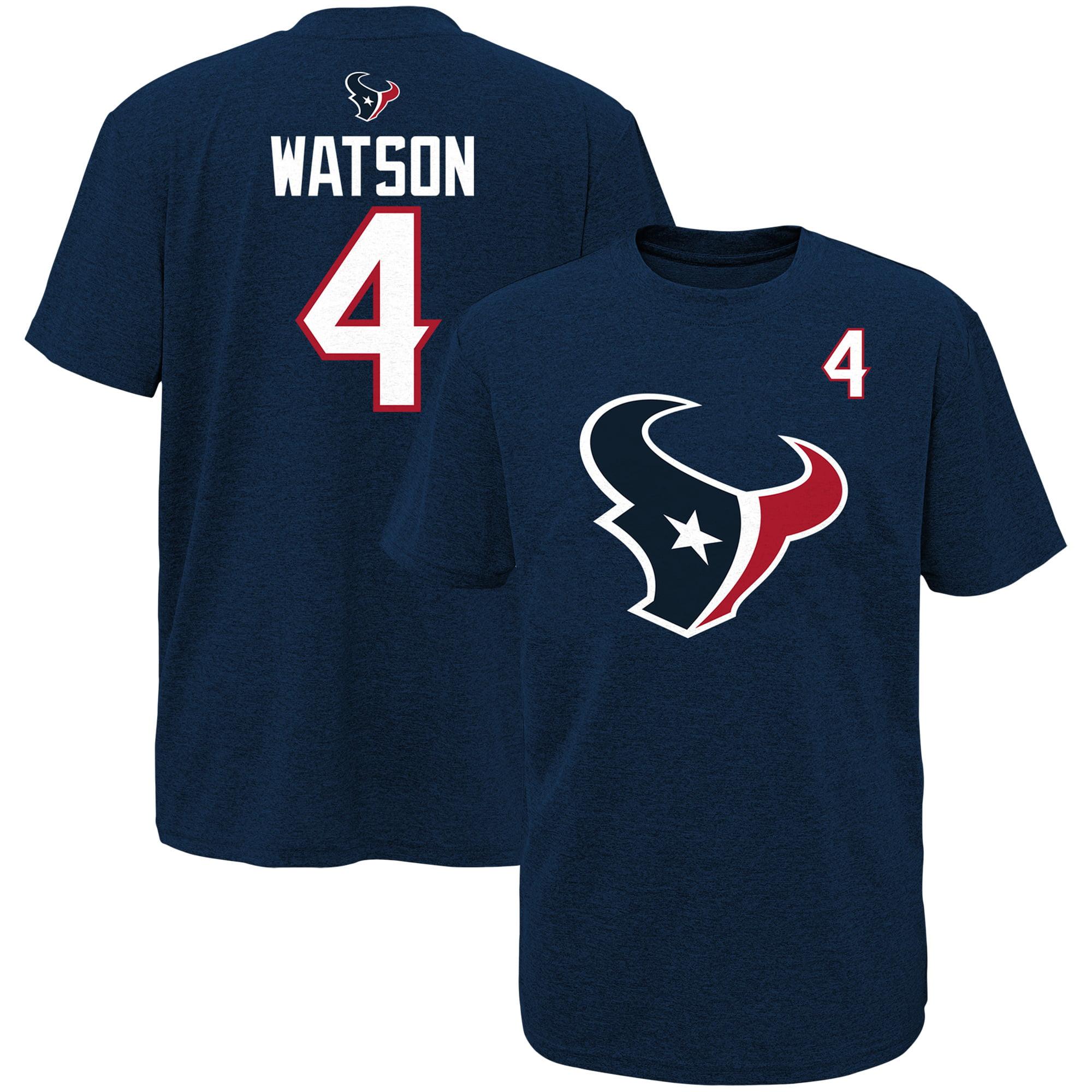Youth Deshaun Watson Navy Houston Texans Player Name & Number T-Shirt