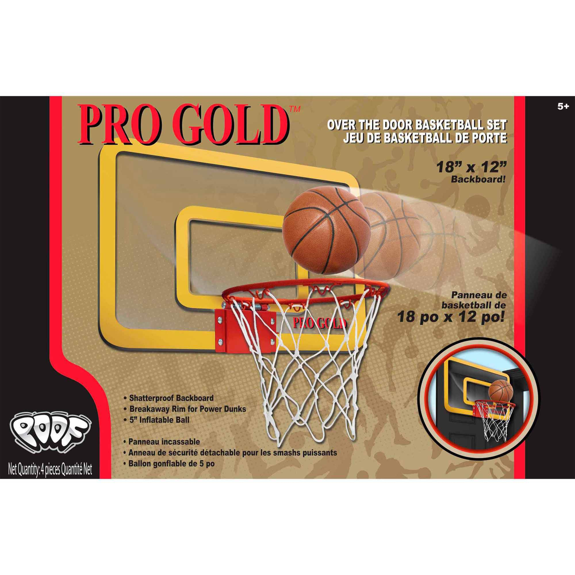 """Pro Gold 18"""" Over The Door Basketball Set by POOF-Slinky, Inc."""
