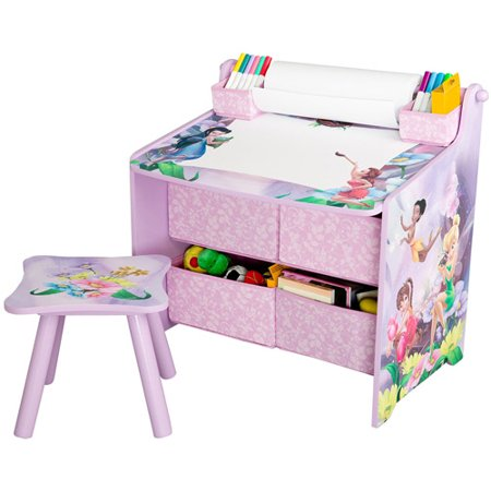 Disney tinkerbell fairies art desk with storage - Art desk with storage organization ...
