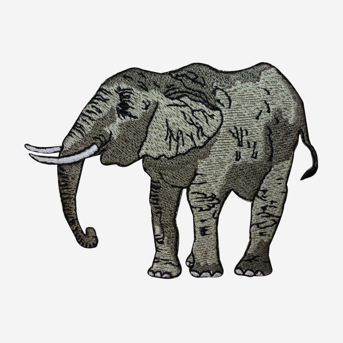 "6/"" Safari Savannah Elephant Embroidery Patch"