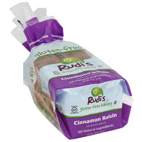 Rudi's Gluten-Free Bakery Cinnamon Raisin Sandwich Bread, 18 oz (Pack of 8)