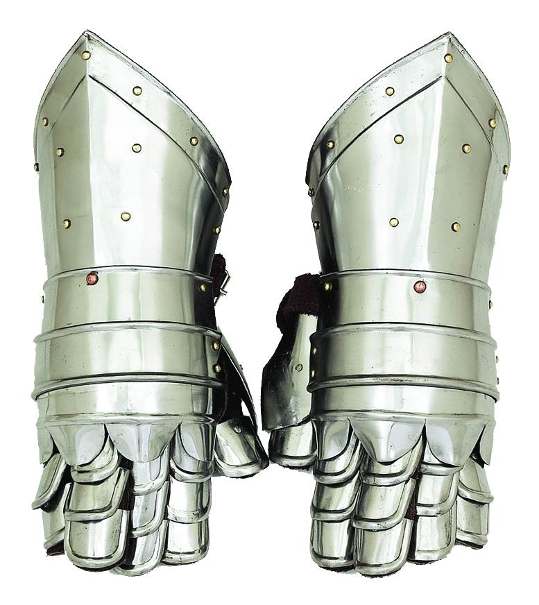 Decmode Metal Armour Hand Gloves Pair, Multi Color