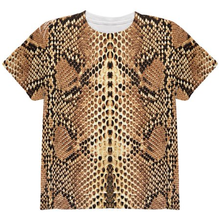 Halloween Rattlesnake Snake Snakeskin Costume All Over Youth T Shirt](Snake Costume)