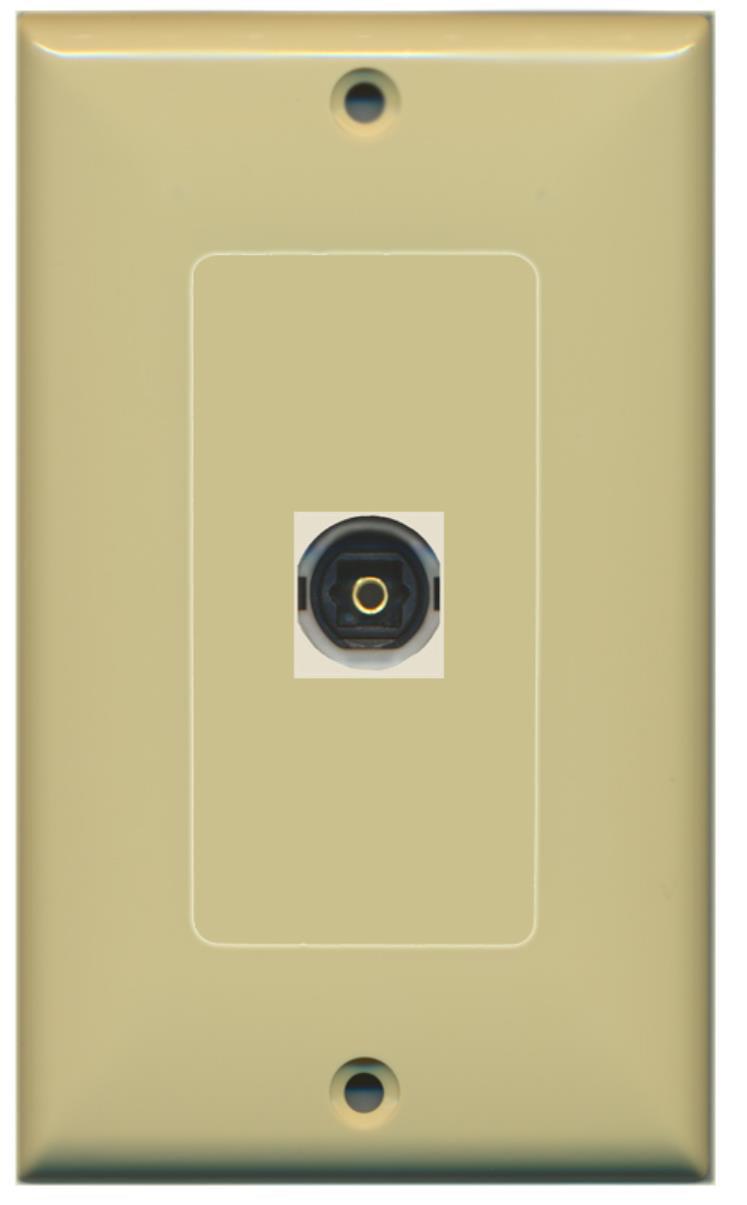 RiteAV - 1 Toslink Digital Audio Port Wall Plate Decorative - Ivory ...