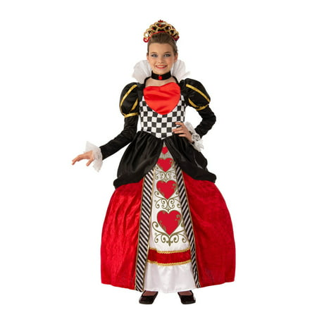 Child Elite Queen Of Hearts Costume - Queen Of Hearts Makeup For Halloween