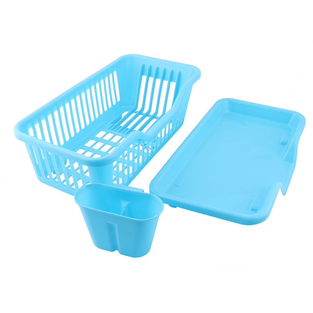 Kitchen Plastic Front Water Outlet Dish Bowl Plate Storage Drainer ...