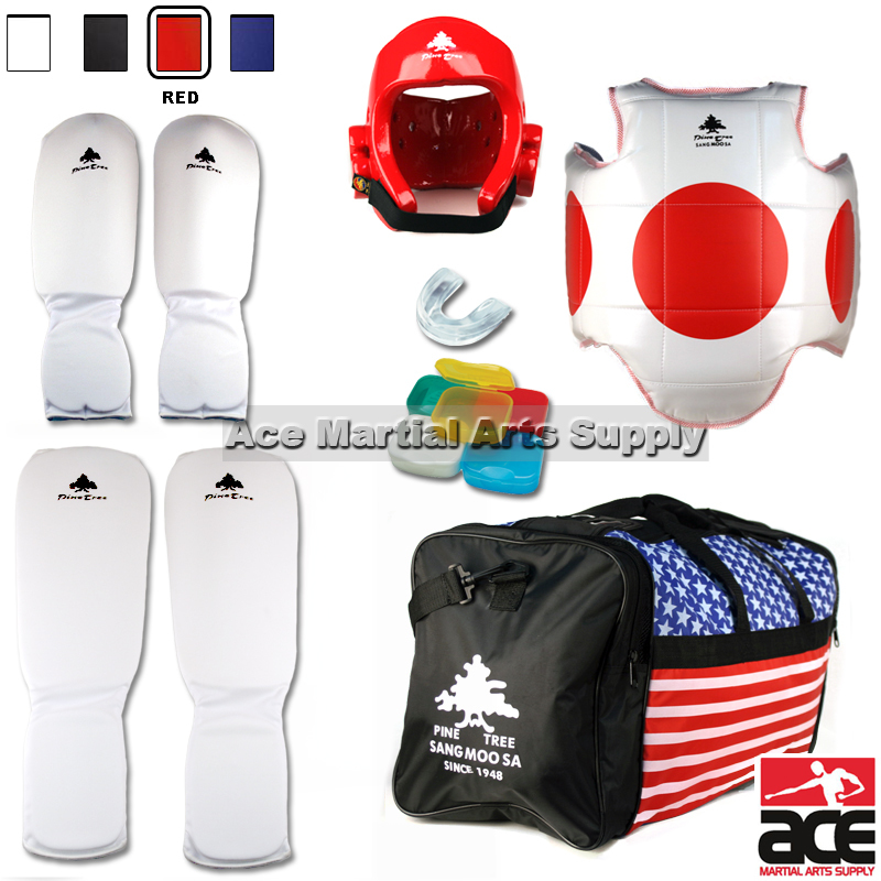 Pine Tree Complete Cloth Martial Arts Sparring Gear Set w...