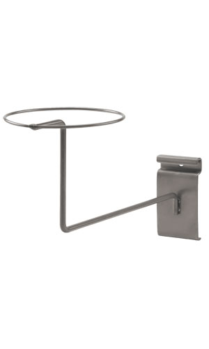 Boutique Raw Steel Single Hat Display for Wire Grid 8-5//8 x 10-3//4 x 3H