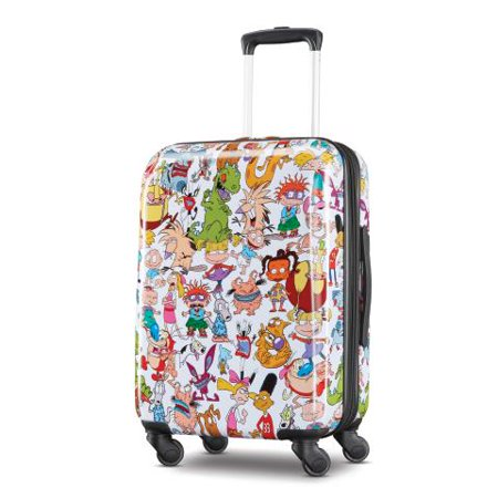 "American Tourister Nickelodeon 21"" Hardside Spinner Luggage - 90's Mashup"
