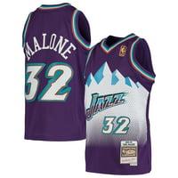 Karl Malone Utah Jazz Mitchell & Ness Youth 1991-92 Hardwood Classics Swingman Throwback Jersey - Purple