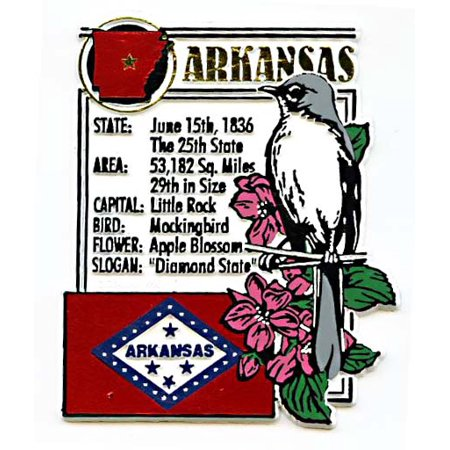 Arkansas the Diamond State Montage Fridge Magnet
