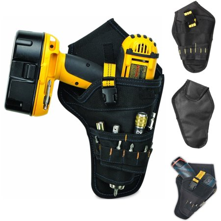 Multi-Pocket Waist Belt Pouch Storage Bag for Holster & Cordless Electric Drill Holster Screwdriver Heavy Duty Cordless Tool