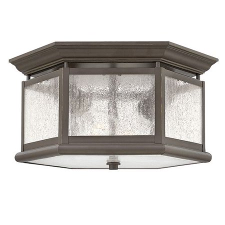 Hinkley Lighting 1683 2 Light Outdoor Flush Mount Ceiling Fixture From The Edgewater Collection