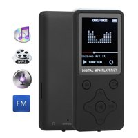TSV MP3 Player, FM Radio, Voice Recorder, Pedometer, Expandable up to 32GB TF Card, with Armband and Earphone