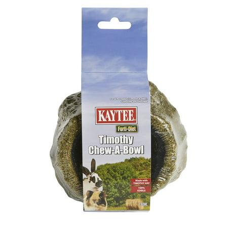 Kaytee Forti-Diet Timothy Chew-A-Bowl, Small Pet Treat Bowl - Kaytee Rabbit Treats