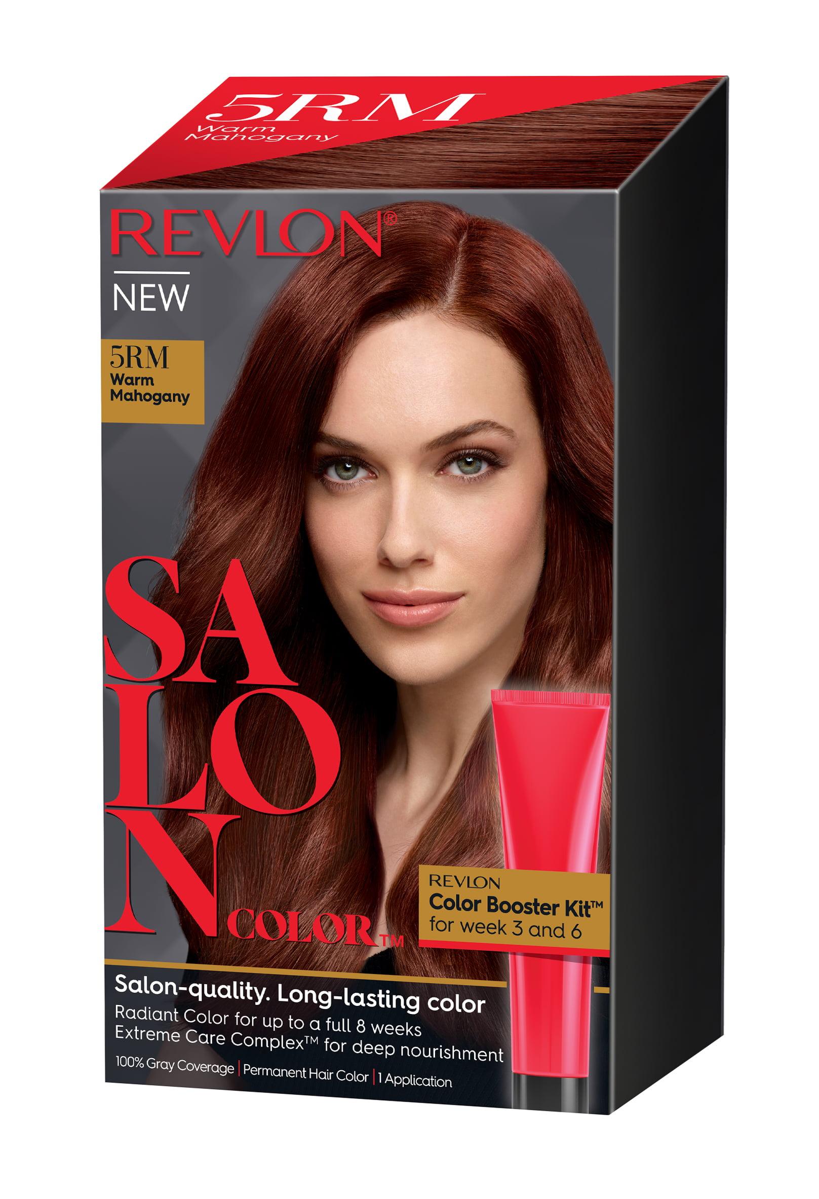 Revlon Salon Hair Color Warm Mahogany 1 Application Walmart