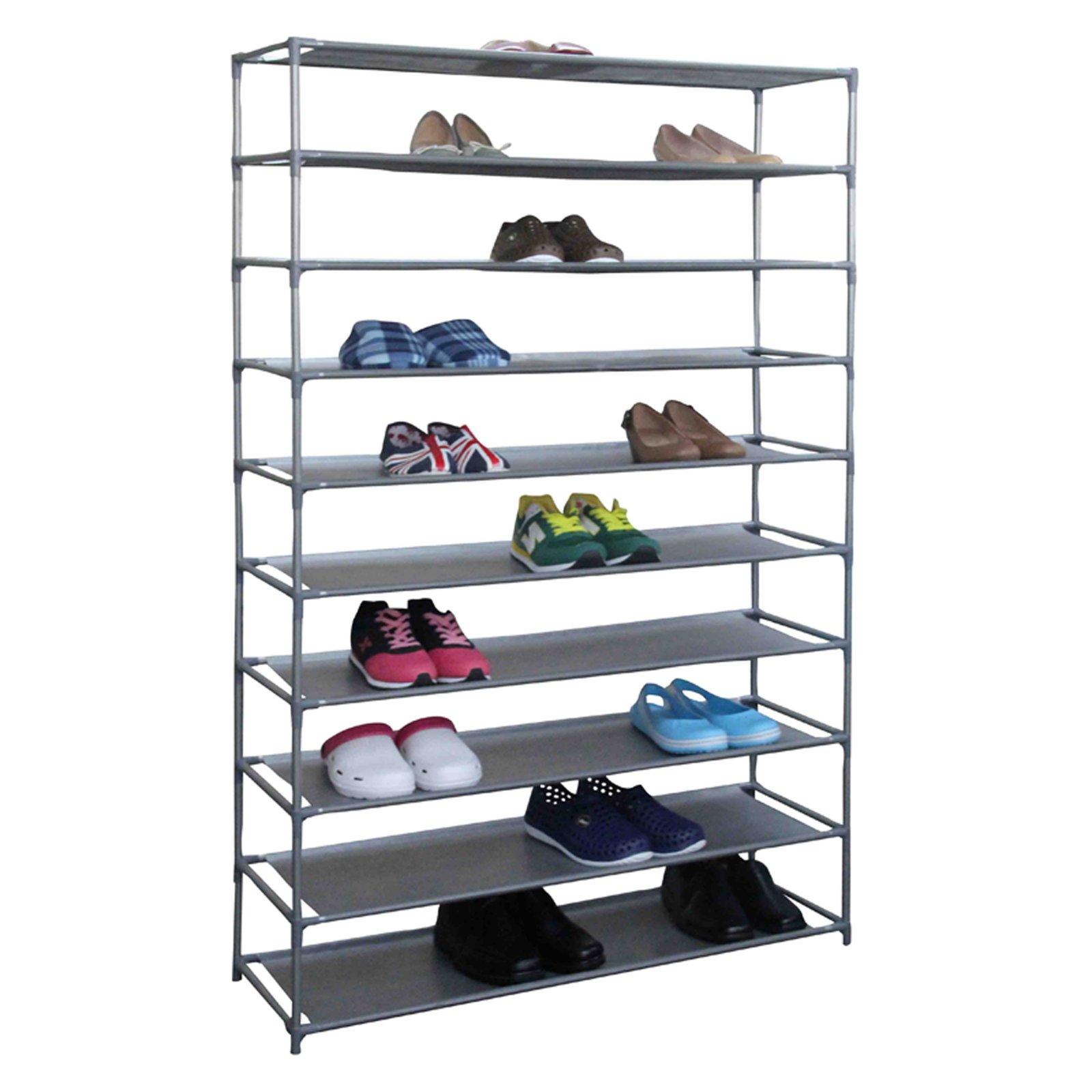 home basics 50-pair non-woven shoe shelf