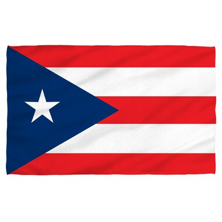 Puerto Rico Flag Beach Towel White 36X58