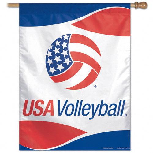 USA Volleyball Vertical Flag: 27x37 Banner