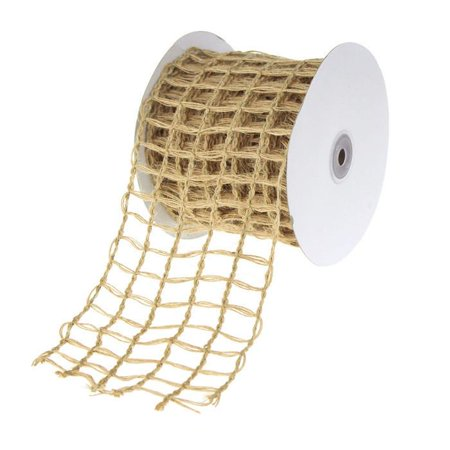 Braided Net Jute Mesh Ribbon, 10 Yards,