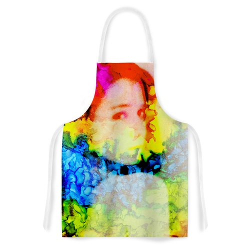 East Urban Home Clairefied by Claire Day Rainbow Paint Artistic Apron