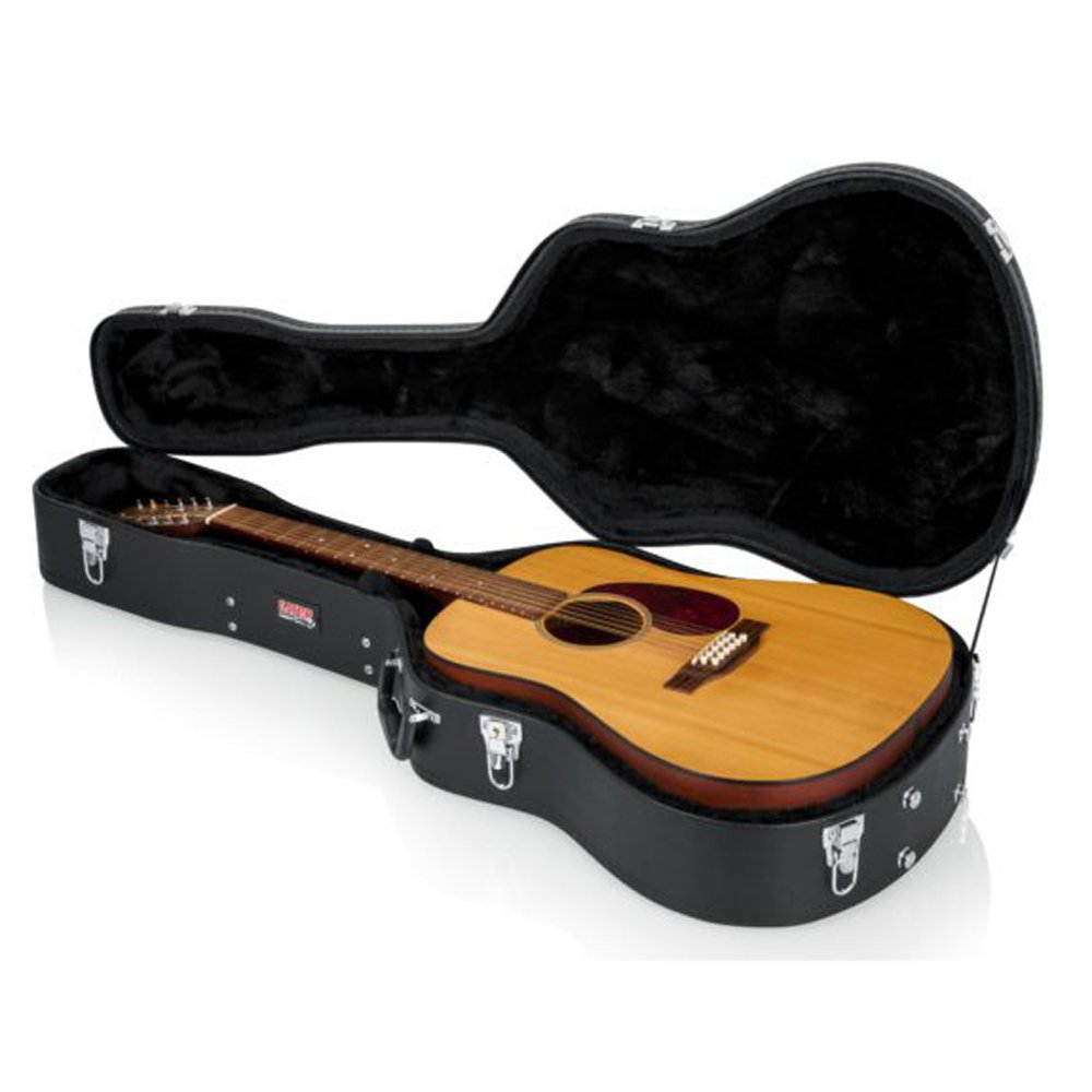 Gator Cases GWE-DREAD GWE Series 12 String Hard Shell Drednought Guitar Case