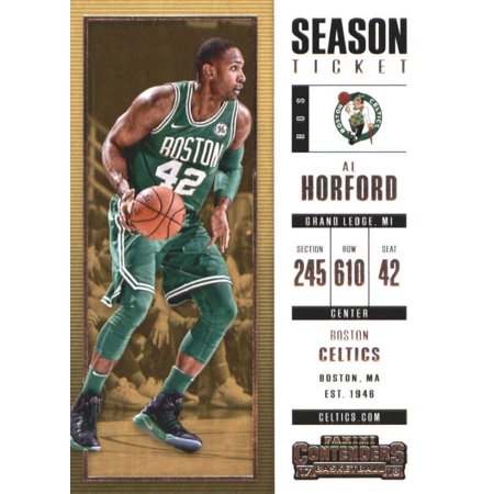 Boston Basketball Stadium - 2017-18 Panini Contenders Season Ticket #66 Al Horford Boston Celtics Basketball Card
