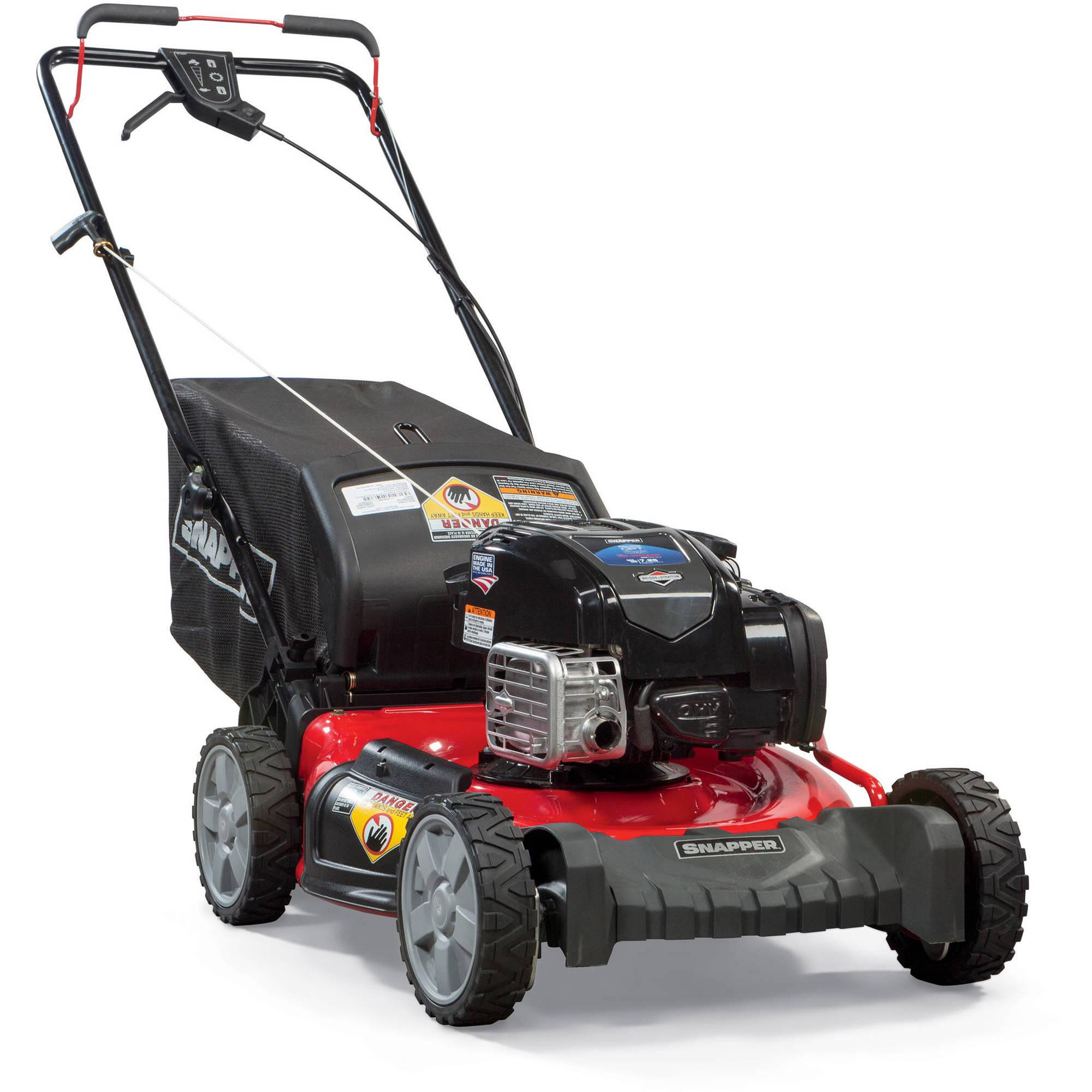"Snapper 21"" Quiet Power Technology (QPT) Self Propelled Gas Rear Wheel Drive Mower with Side Discharge, Mulching, Rear Bag"