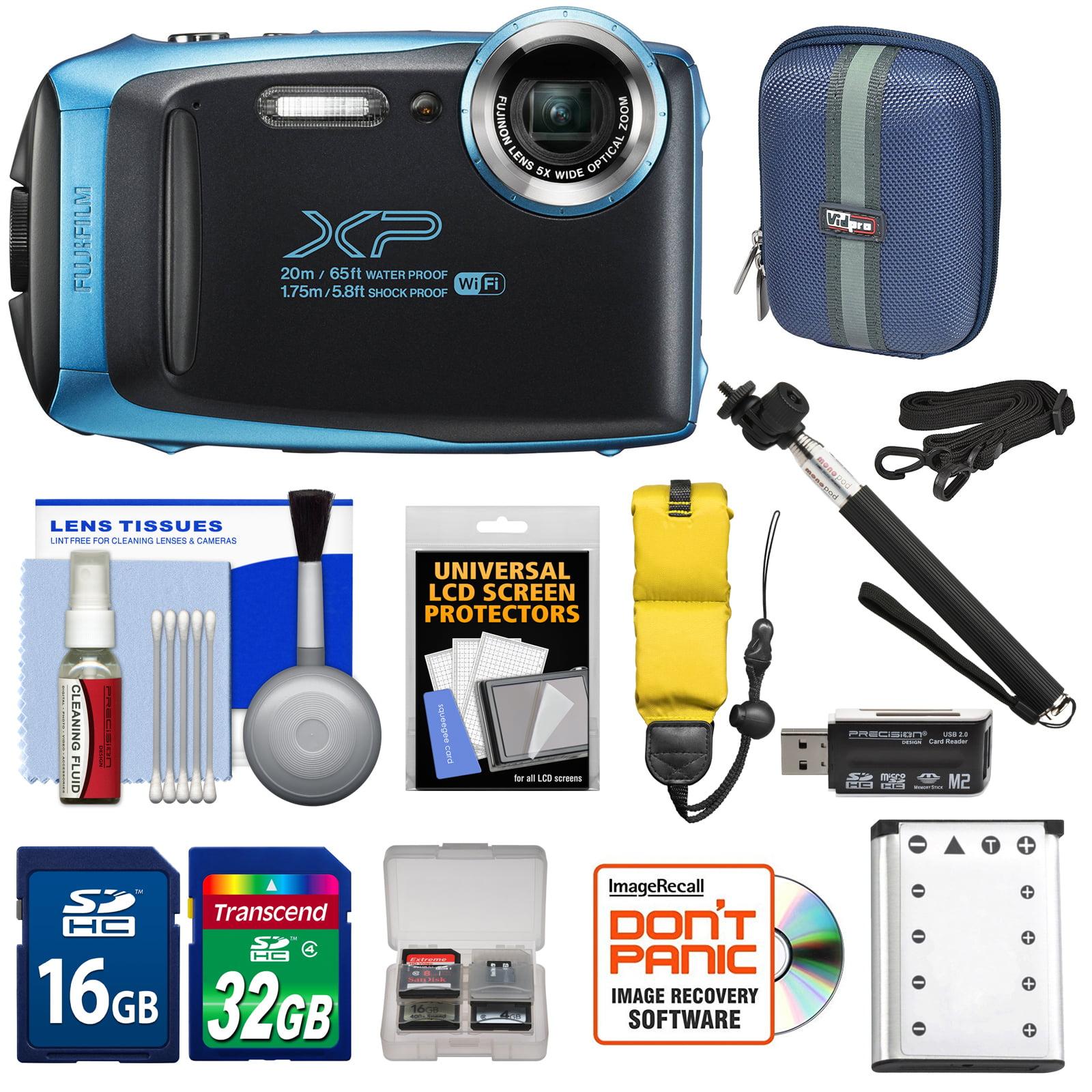 Fujifilm FinePix XP130 Shock & Waterproof Wi-Fi Digital Camera (White) with 32GB Card + Battery + Cases + Float Strap + Selfie Stick + Kit
