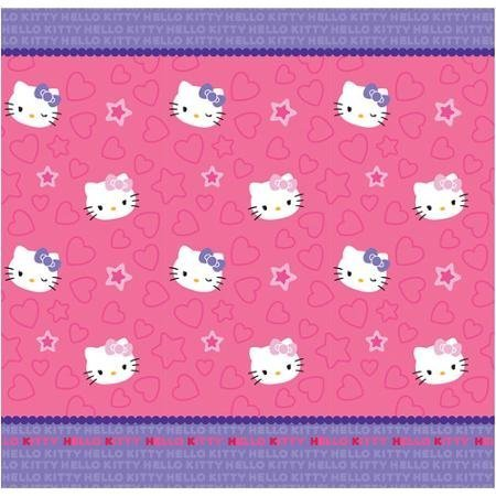 Hello Kitty Kitty Me Fabric Shower Curtain 72in x 72in Pink