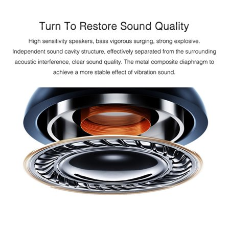 3.5mm In-ear Magnetic Adsorption Earphone Bass Stereo Noise Isolating Headphone With Mic for Smartphones Computers - image 5 de 10
