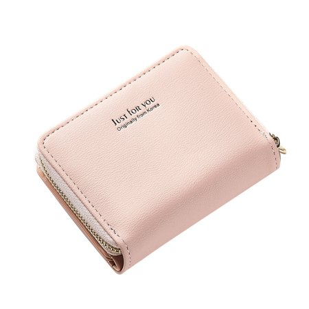 Lady Coin Handbag Stylish Zipper Wallet Package 3 Layers Square PU Clutch