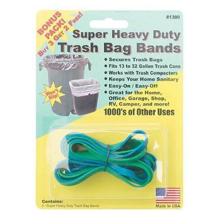 Creative Homeowner 1300 Super Heavy Duty Trash Bag Bands 5 Count ()
