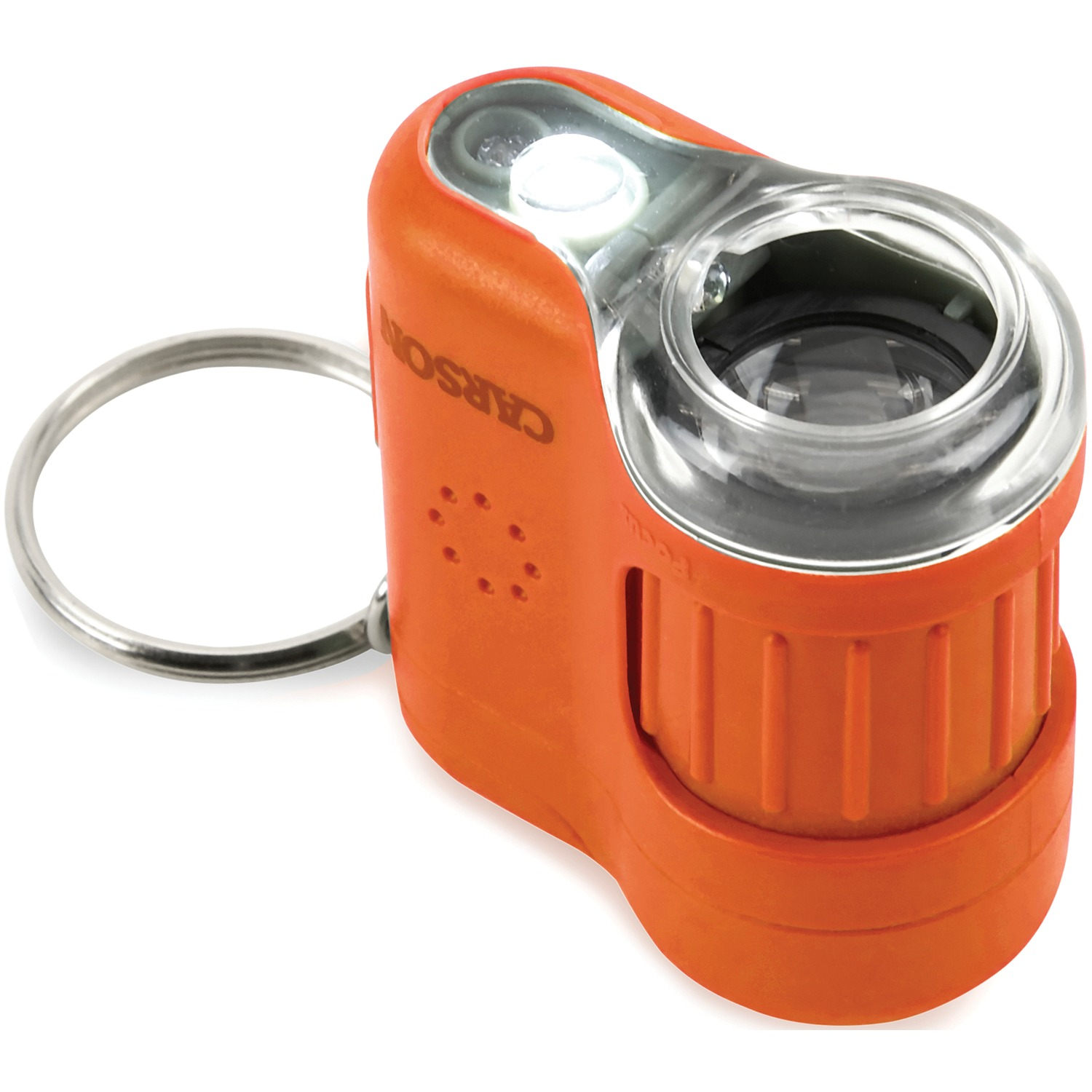 Carson Optical MM-280O Micromini 20x LED Lighted Pocket Microscope (Orange)