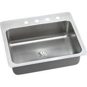 Elkay DPMSR12722PDMR2 Dayton Premium Stainless Steel Single Bowl Dual-Mount Sink Kit with MR2 Faucet Holes, Premium Satin