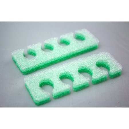 Pack of 12 Pairs 4-hole Soft Foam Toe Separators, Perfect for Pedicure, Manicure, Nail Polish, and Other Uses for Home and Nail Salon