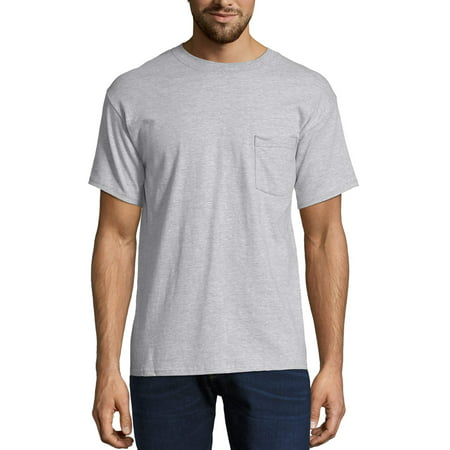 bc953e0b6 Hanes - Men's Premium Beefy-T Short Sleeve T-Shirt With Pocket, Up to Size  3XL - Walmart.com