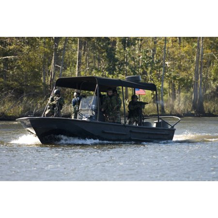 Stennis Space Center Mississippi October 23 2006 - Sailors train personnel from the Iraqi Riverine Police Force on special boat maneuvers and weapon handling Poster (Best Trained Special Forces)