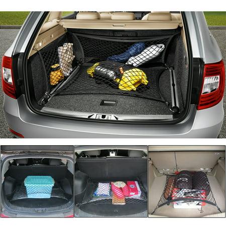 Universal Car Storage net Trunk Organizer Mesh Net Hammock Cargo Storage Vehicle Organizer Folding