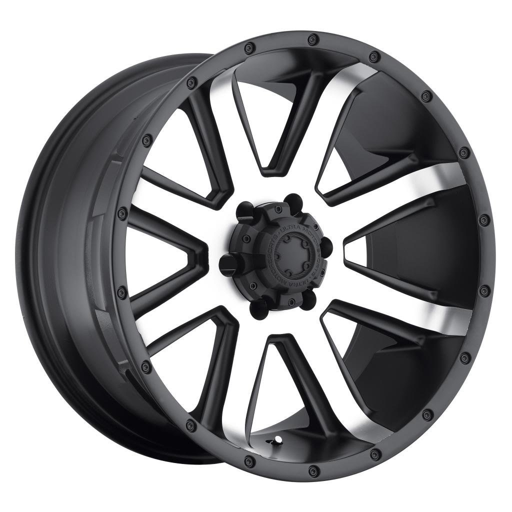 Ultra Crusher 17 Machined Black Wheel / Rim 6x5.5 with a 25mm Offset and a 106 Hub Bore. Partnumber 195-7884U