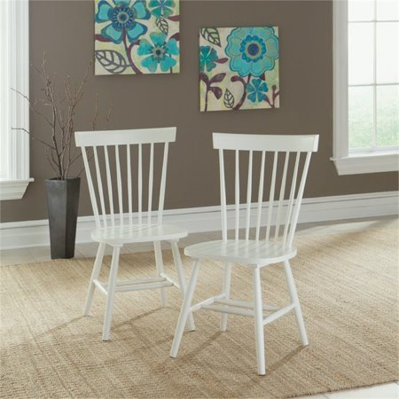 Astounding Pemberly Row Spindle Back Dining Chair In White Set Of 2 Alphanode Cool Chair Designs And Ideas Alphanodeonline
