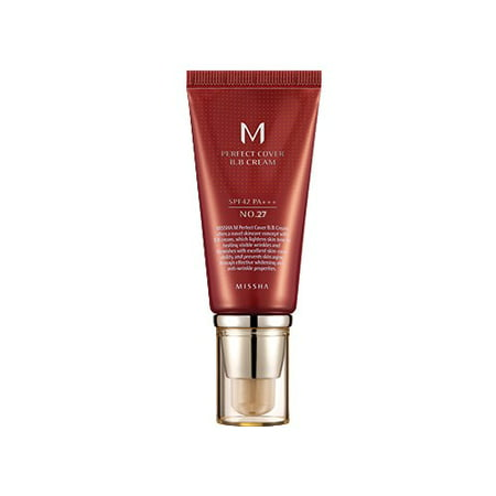 MISSHA M Perfect Cover BB Cream SPF42 PA+++, No. 27 Honey Beige,