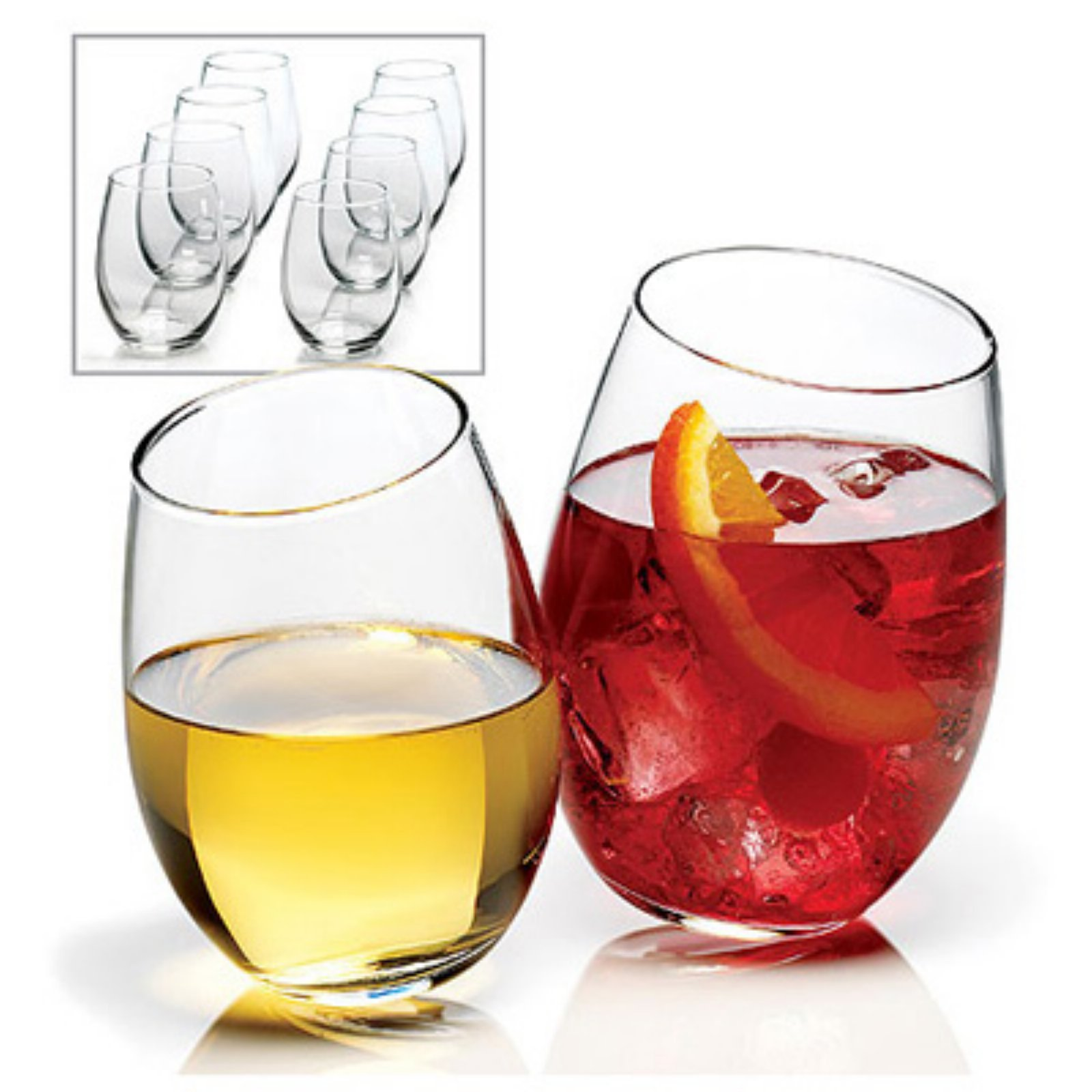 Anchor Hocking 8-piece Stemless Wine Glass Set