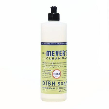 Mrs  Meyers Clean Day Dish Soap  Lemon Verbena  16 Fl Oz