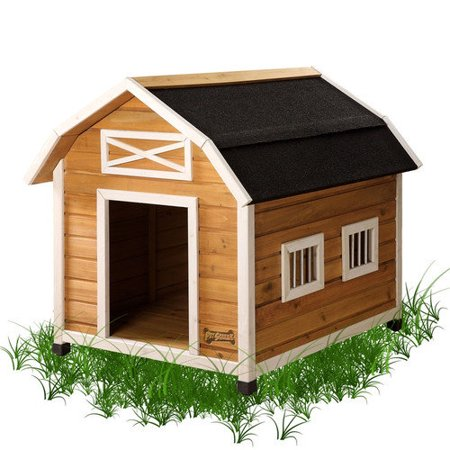 Pet squeak barn dog house walmartcom for Red barn dog kennel