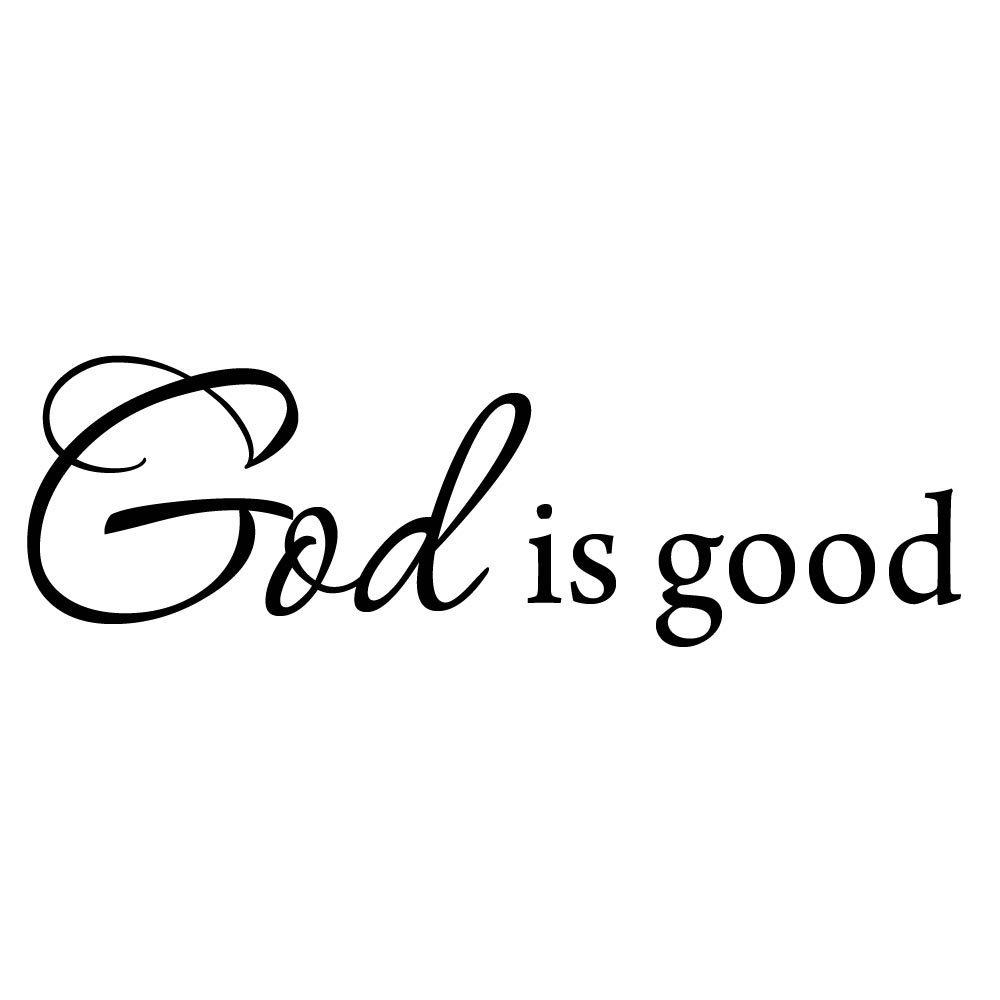 "VWAQ God is Good Wall Decal Inspirational Quote Bible Wall Decals VWAQ-3544 (15""W X 5""H)"