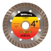 "4"" Turbo Continuous Rim Diamond Cut-Off Blade w/5/8"" Through 7/8"" Arbor Forney"